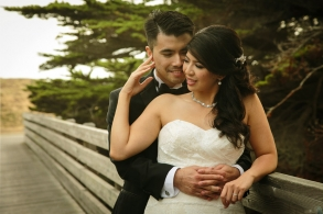 wedding portrait at Half Moon Bay Golf Links